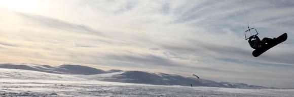 Snowkitespot Haugastol Snowkiten Norwegen