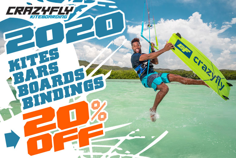 2020 CrazyFly Kiteboarding Sales 20% Off