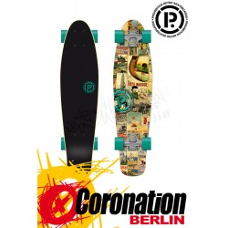 Prohibition Retro Wood mini Cruiser Bask Coast Longboard