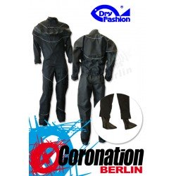 Dry-Fashion Trockenanzug Black Performance Silber avec Füßlinge