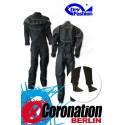 Dry-Fashion Trockenanzug Black Performance Silber mit Füßlinge