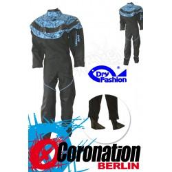 Dry Fashion Trockenanzug Black Performance blueprint mit Füßling