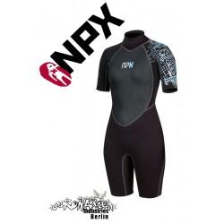 NPX Shorty Vamp Frauen Neoprenanzug Black Blue