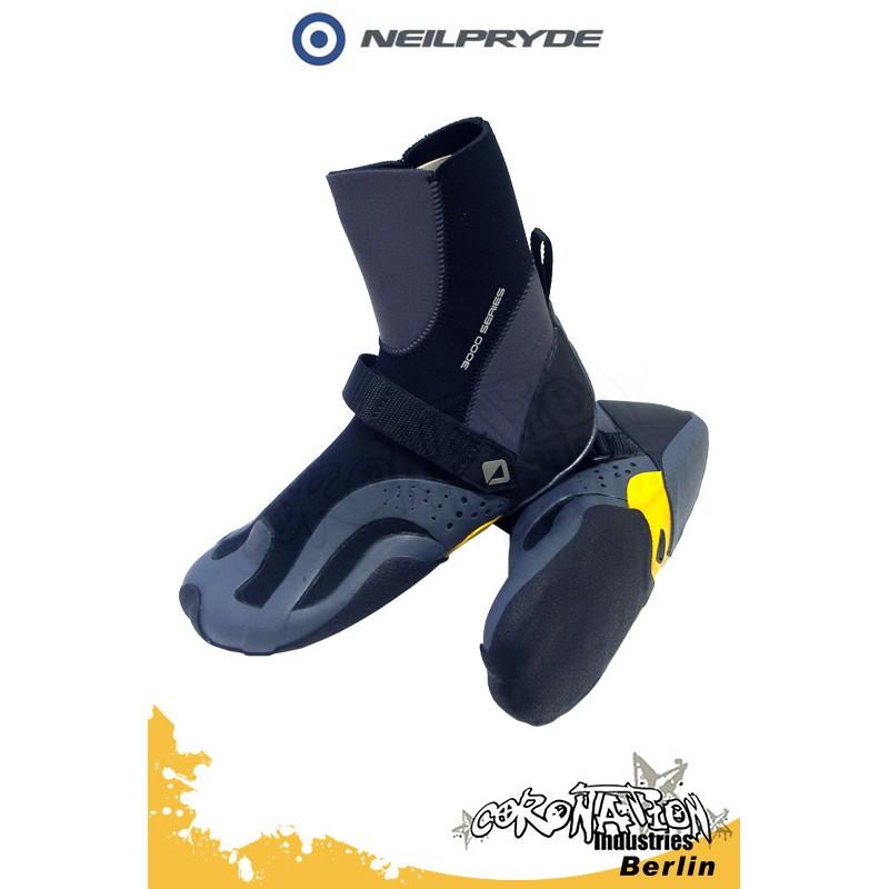 Neil Pryde 3K HC Split 4mm Kite-Schuh - dark grey