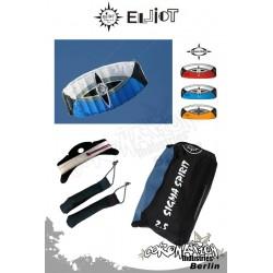 Elliot Sigma Spirit 2-Leiner Kite R2F - 2.5 Blau mit Bar