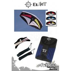 Elliot Sigma Sport 2-Leiner Kite R2F - 3.0 Rot-Gelb
