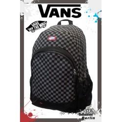Vans Van Doren Black Check Schul & Street Rucksack