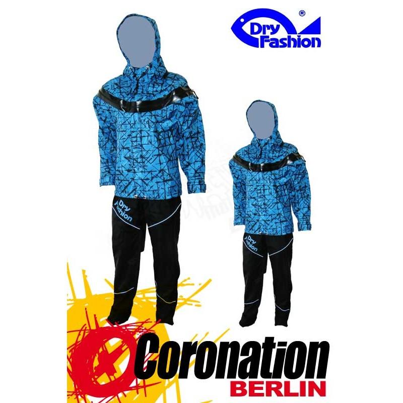 Dry Fashion ICE Print Trockenanzug Blau Frontzip