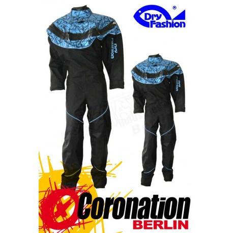 Dry Fashion Black Performance Print Fabric Blau