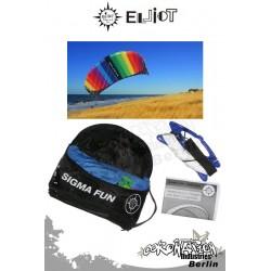 Elliot Sigma Fun 1.6 R2F avec Controlbarre - Softkite rainbow
