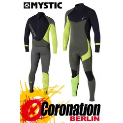 Mystic Crossfire Steamer 5/4 Neoprenanzug Army/Lime Wetsuit