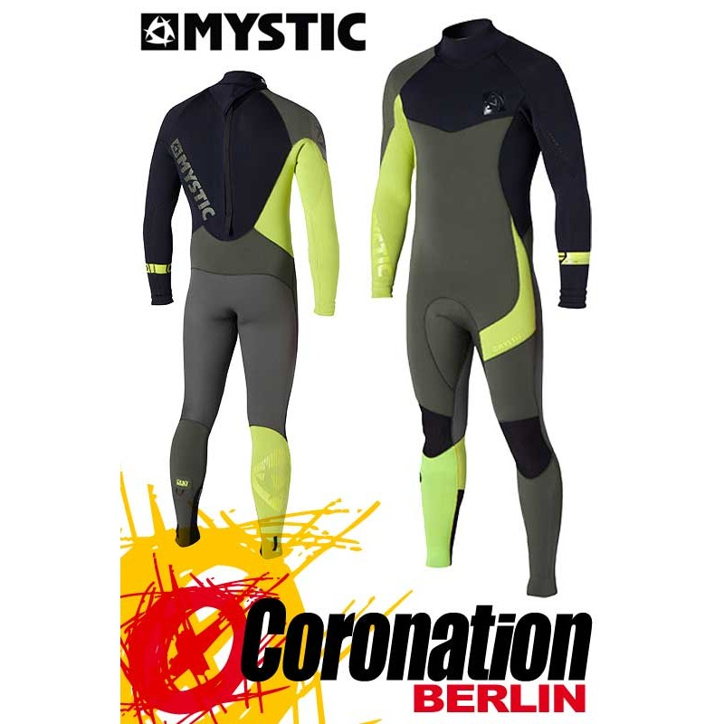 Mystic Crossfire Steamer 5/4 combinaison neoprène Army/Lime Wetsuit