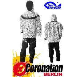 Dry Fashion ICE Print Trockenanzug blanc Frontzip