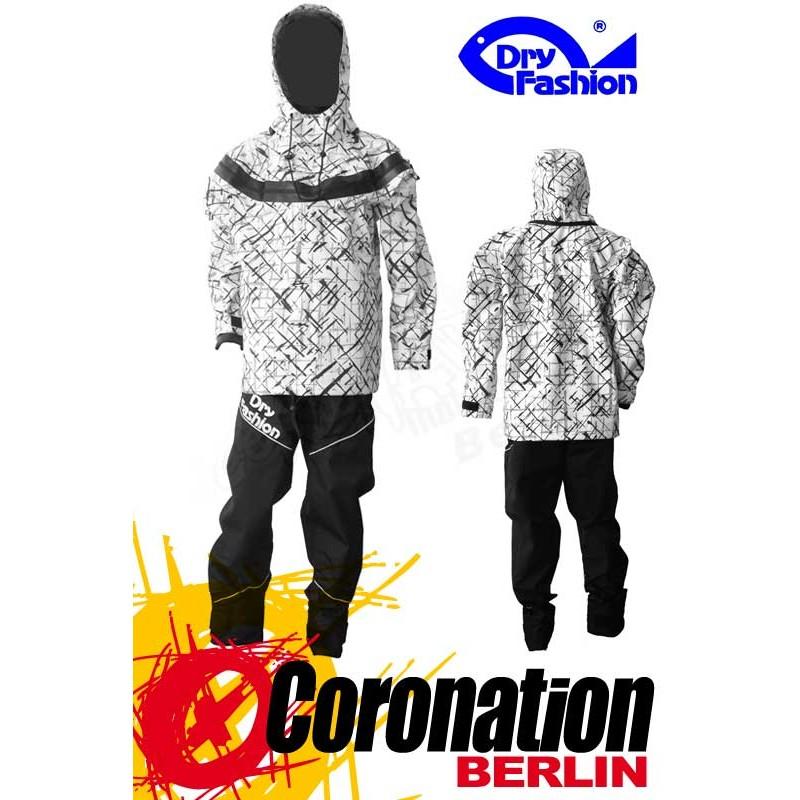 Dry Fashion ICE Print Trockenanzug Weiß Frontzip