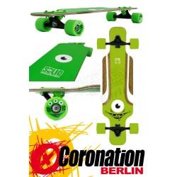 Solid Eye Kid green complete Longboard