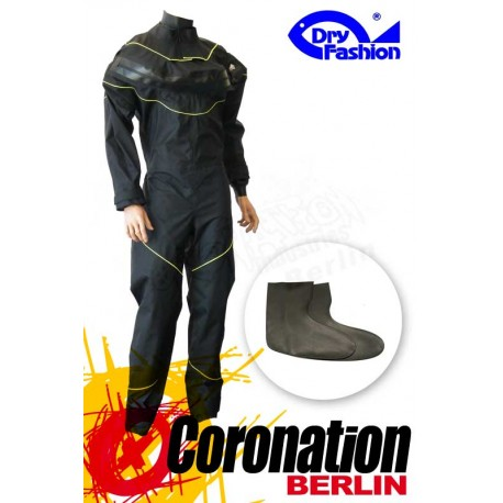 Dry-Fashion Trockenanzug Black Performance Gelb mit Füßlinge