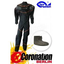 Dry-Fashion Trockenanzug Black Performance Orange mit Füßlinge