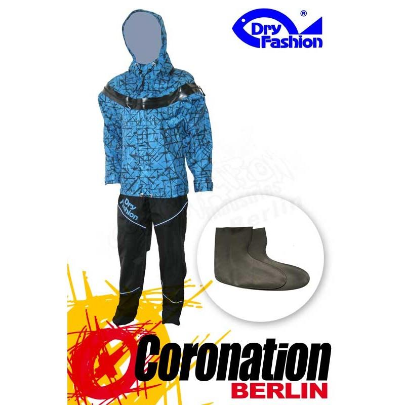 Dry Fashion ICE Print Trockenanzug Blau mit Füsslinge