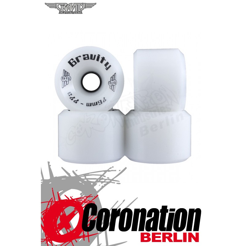 Gravity roulettes High Grade 76mm 77a roues - blanc