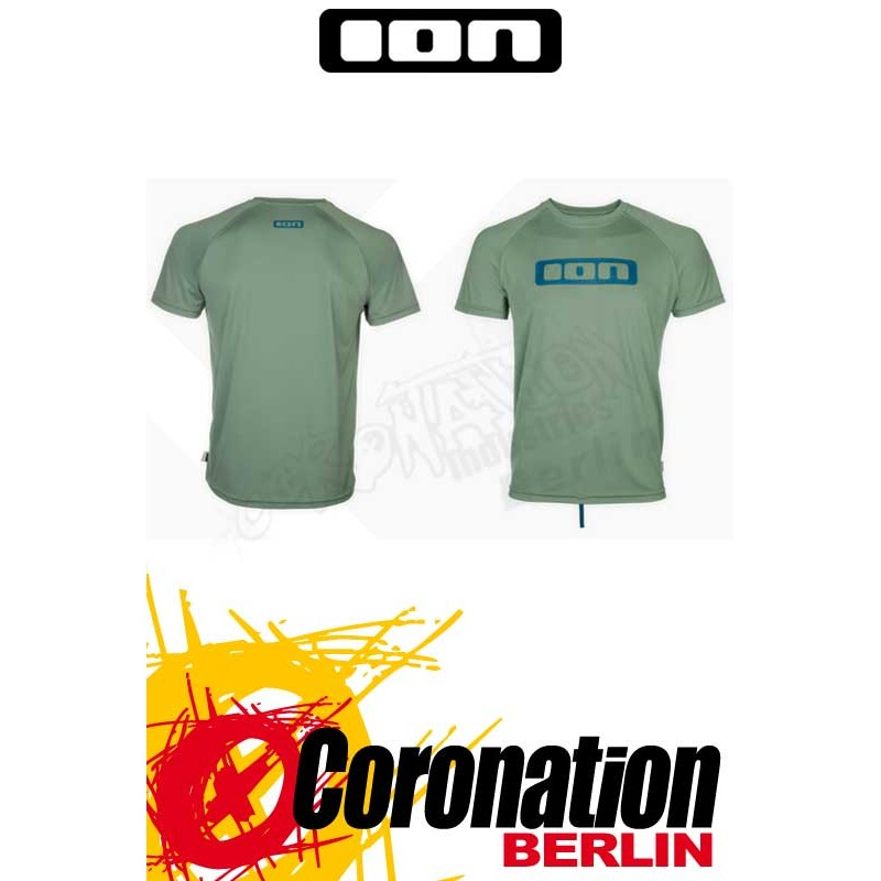 ION Wetshirt SS Logo hedge vert Quickdry T-Shirt