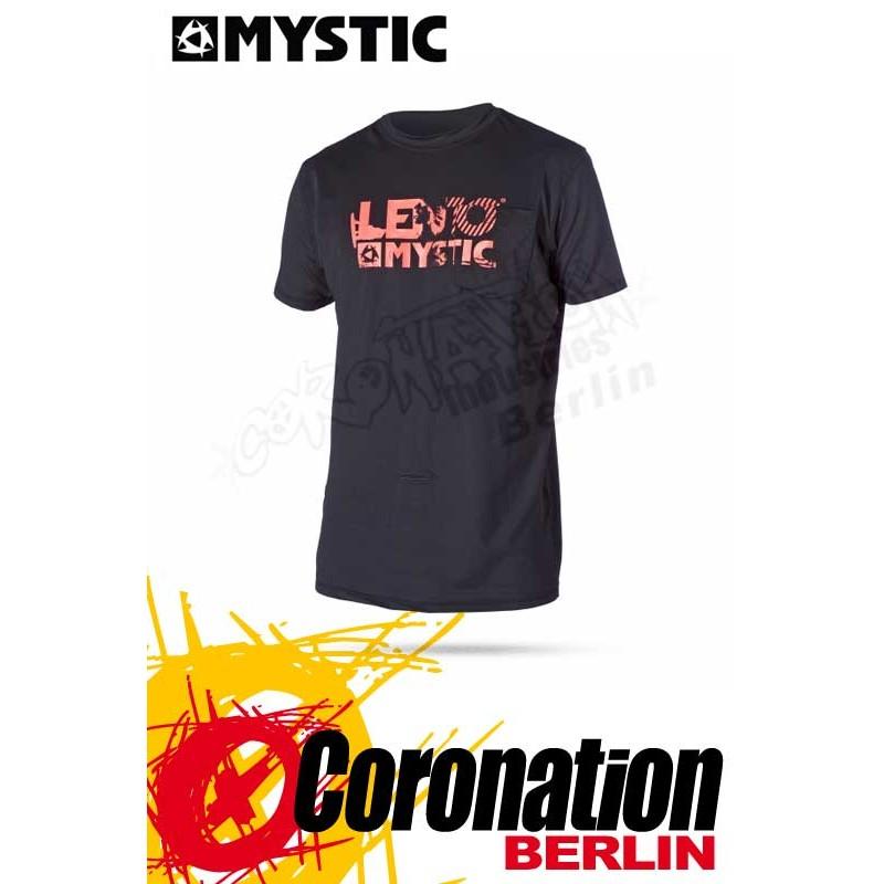 Mystic Star Len10 Quick Dry S/S Black/Grey
