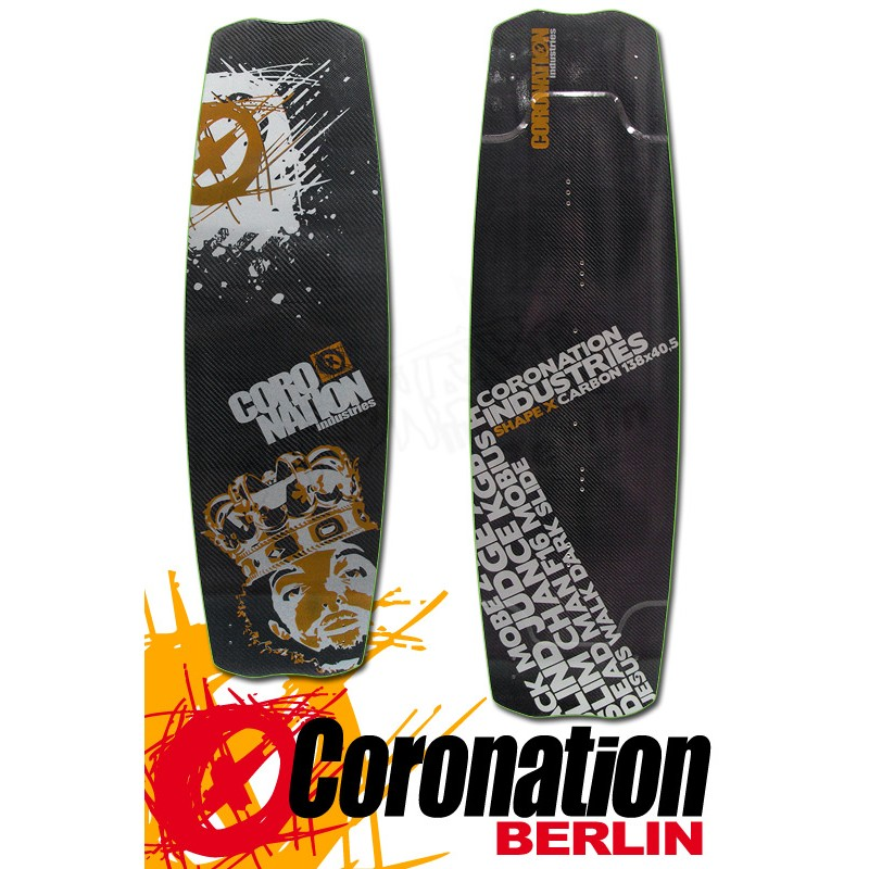 Coronation Kiteboard Shape X Carbon 138cm Freeride Freestyle