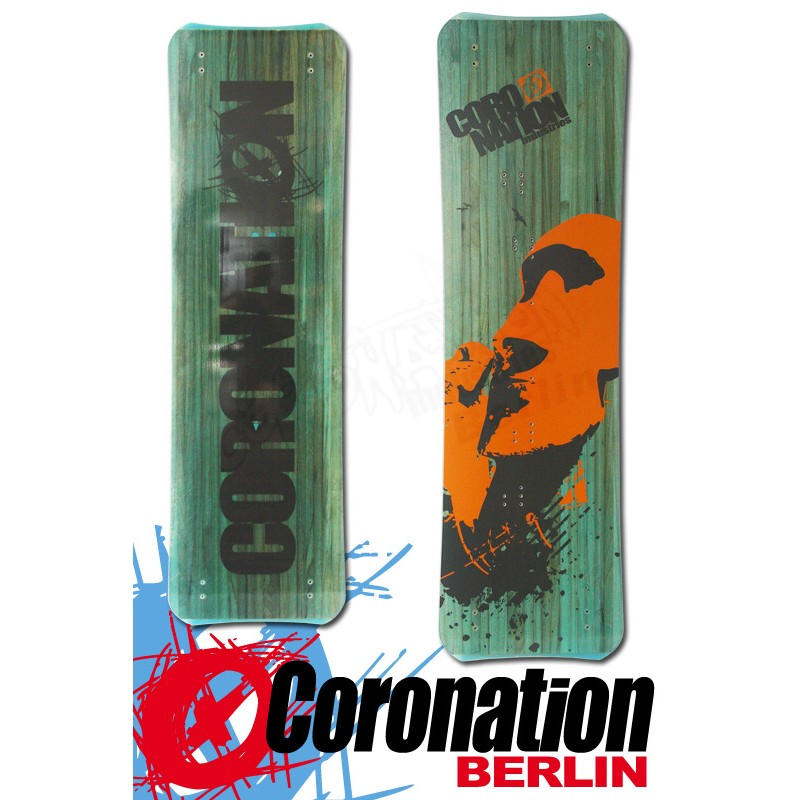 Coronation Kiteboard Big WOOD 153 vent léger - bleu