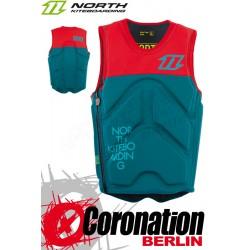 North Kite Vest Seat Prallschutzweste red/petrol