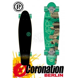 Prohibition Oldschool Retro Wood Longboard Cruiser Big Apple