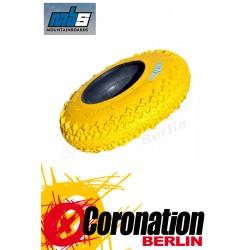MBS T3 Mountainboard pneu 8'' gelb - 4er Satz