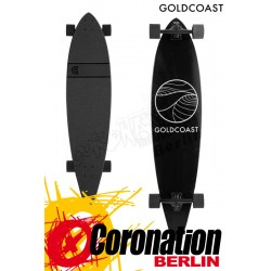 GoldCoast Classic Black Longboard Pintail Cruiser