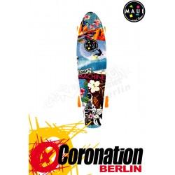 Maui & Sons Printed Surf Machine Kicktail Board