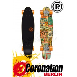 Prohibition Retro Wood mini Cruiser California Longboard