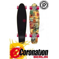 Prohibition Retro Wood mini Cruiser barcelona Longboard