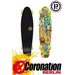 Prohibition Retro Wood mini Cruiser Hawaii Longboard