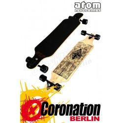 """Atom 40"""" Tiki Bamboo Drop Through complète longboard"""