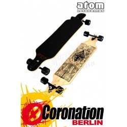 "Atom 40"" Tiki Bamboo Drop Through Komplett longboard"
