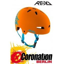 REKD Elite Icon Orange/Blue Helm