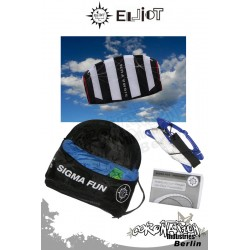 Elliot Sigma Fun 1.3 Ready To Fly - Softkite noir/blanc