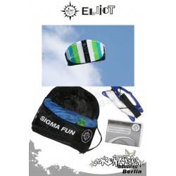 Elliot Sigma Fun 1.6 Ready To Fly - Softkite blanc/bleu/vert