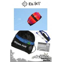 Elliot Sigma Fun 1.6 Ready To Fly - Softkite Lila/Rot/Orange