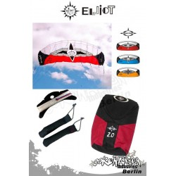 Elliot Sigma Spirit 2-Leiner Kite R2F - 2.0 rouge avec barre