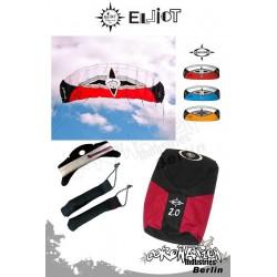 Elliot Sigma Spirit 2-Leiner Kite R2F - 2.0 Rot mit Bar