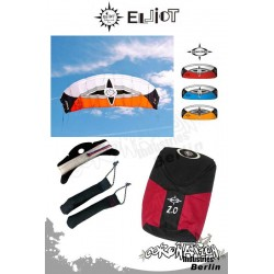 Elliot Sigma Spirit 2-Leiner Kite R2F - 2.0 Orange mit Bar
