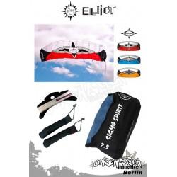 Elliot Sigma Spirit 2-Leiner Kite R2F - 2.5 Rot mit Bar