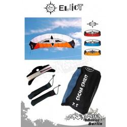 Elliot Sigma Spirit 2-Leiner Kite R2F - 2.5 Orange mit Bar