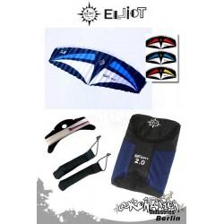 Elliot Sigma Sport 2-Leiner Kite R2F - 2.0 Weiß-Blau