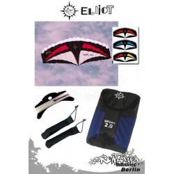 Elliot Sigma Sport 2-Leiner Kite R2F - 3.0 Rot-Weiß