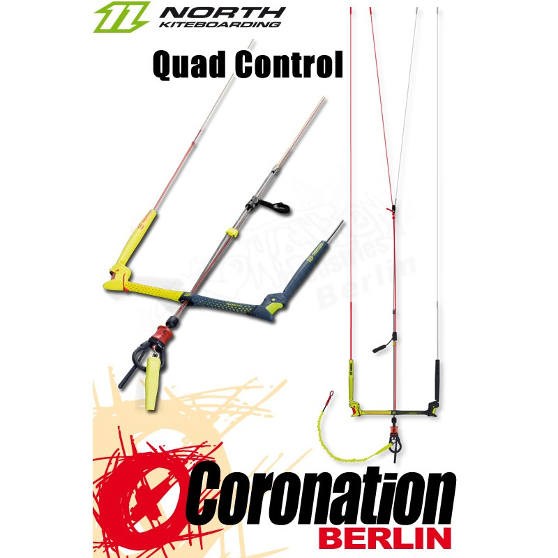 North 22m Quad Control Bar 2018 mit Freeride Loop komplett *ON SALE* Kitesurfen