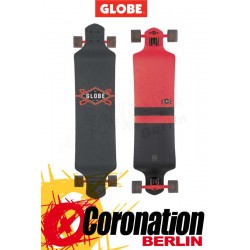 Globe Geminon Drop Down Longboard complète - red/black